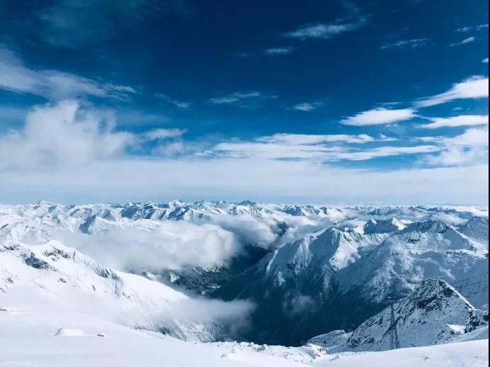 雪后的达古冰川,很美!